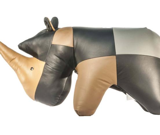 Rhino Multi Leather Ottoman