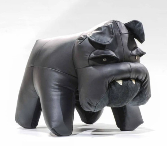 Bulldog Leather Ottoman