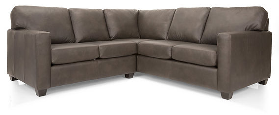 3541 2 Pc Leather Sectional