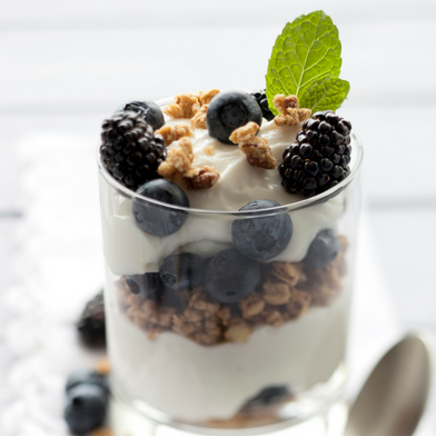 Nutty Blueberry Yogurt Parfait