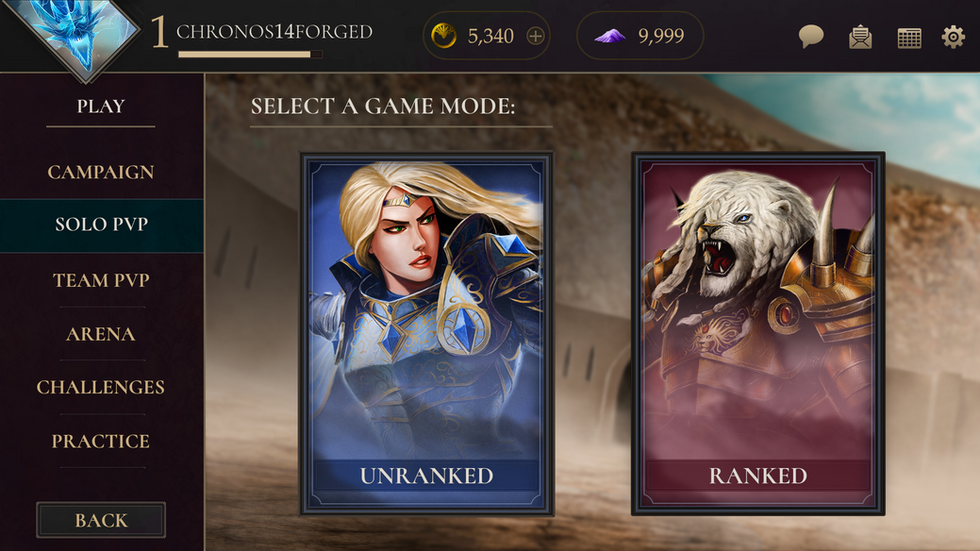 Game Mode Selection - 2.6 MB