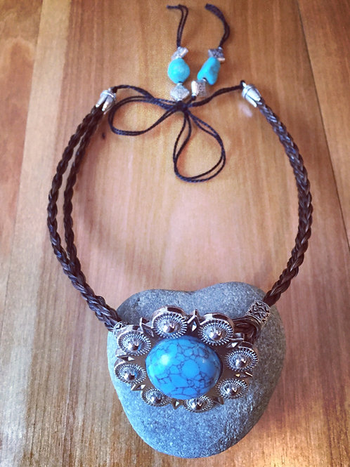 Concho necklace or hatband