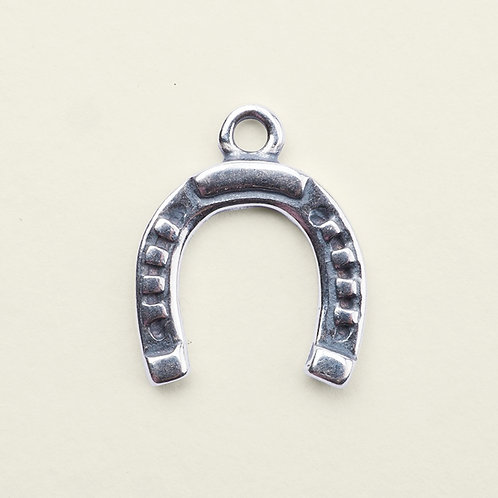sterling silver horseshoe charm