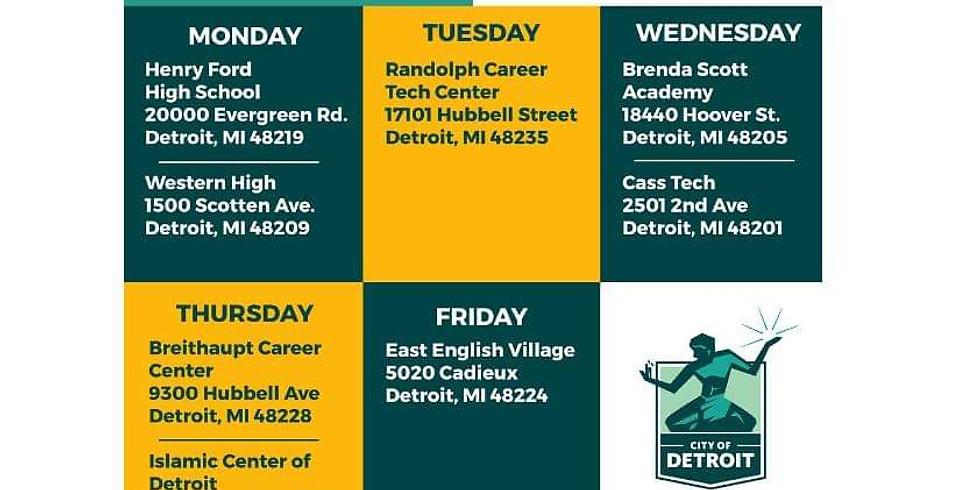 City of Detroit Vaccine Locations