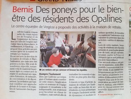 Le centre équestre de Vergèze associé aux Ailes de l'emploi proposent des activités aux retraités !