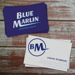 Blue Marlin Construction Logo & Business Cards