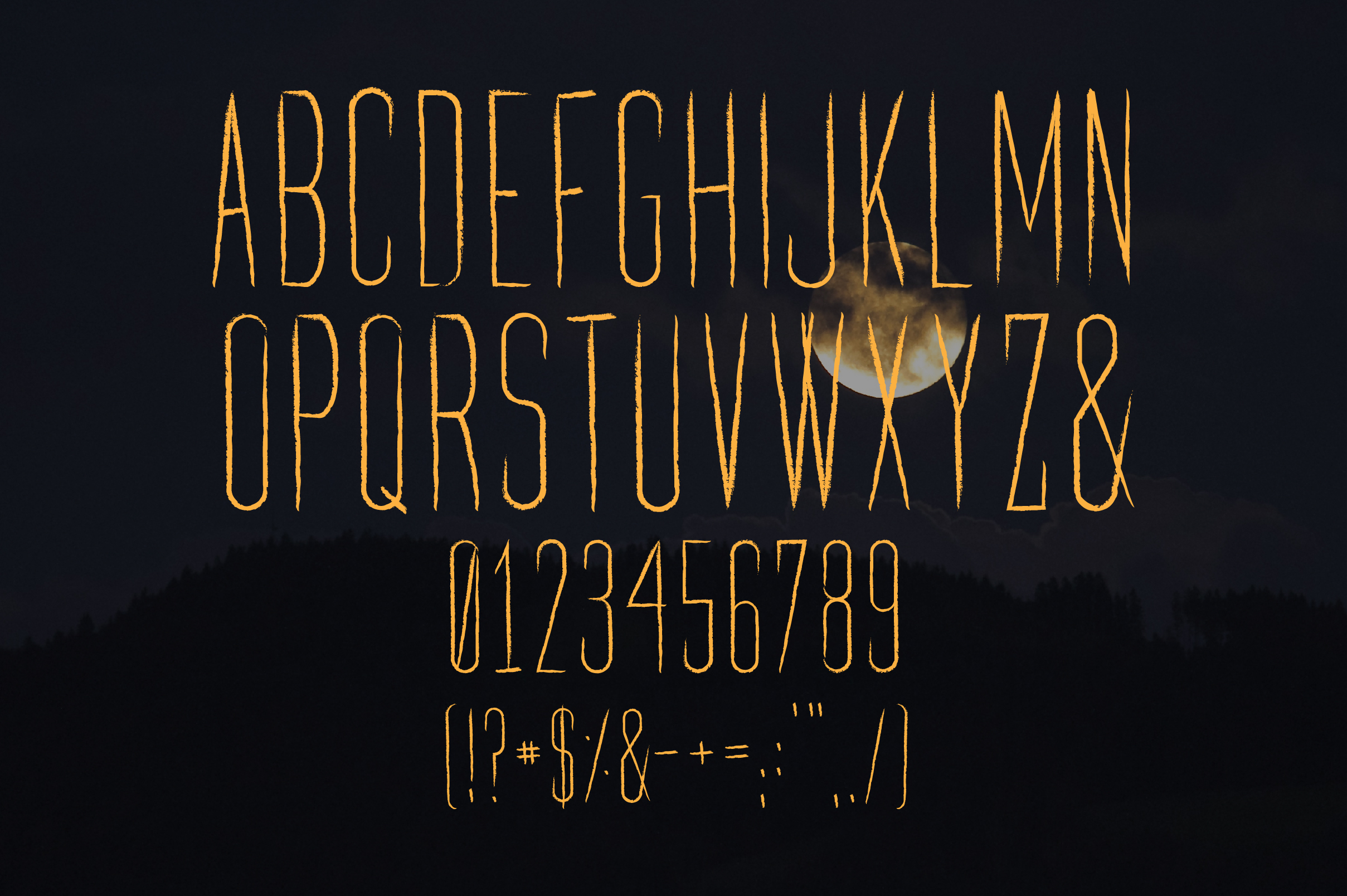 Carpathia Typeface Characters