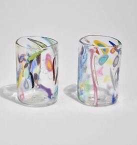 Casa Shop Colourful Abstract Tumbler Set
