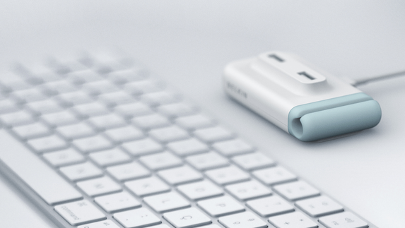 BELKIN USB hub with cable clip