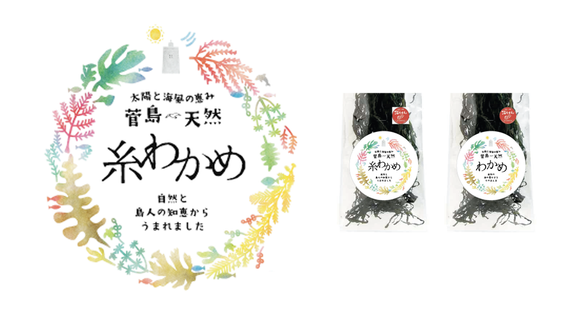 ​菅島天然糸わかめ Illustration & Package Design