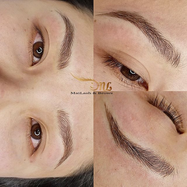 Just Microblading. _Client 💗 the shape