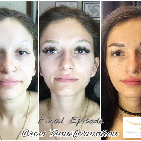 Full process of brows after 2 treatments