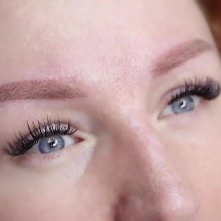 Healed brows Redhead