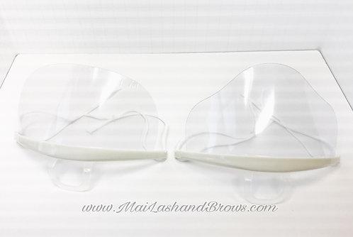 Clear Plastic Masks (set of 2)