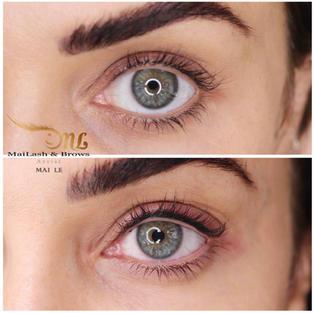 Combo lash liner + thin eyeliner - very subtle enhancement