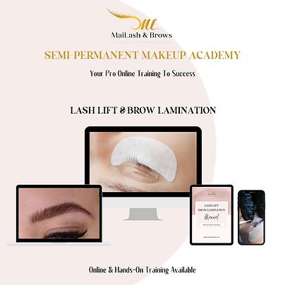 Lash Lift & Brow Lamination Online Training