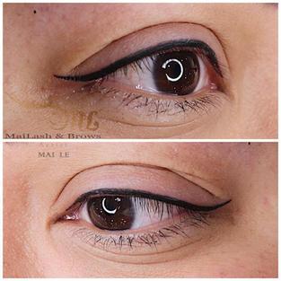 Combo lash line + thin eyeliner