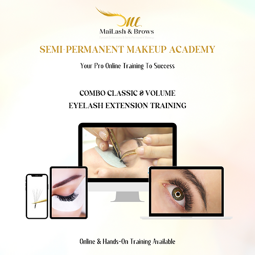 Online Training Classic & Volume Eyelash Extension