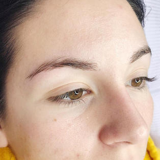 Naturally good brow hair, microblading the next picture