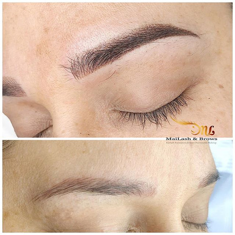 Covering previous work with Ombre Brows.