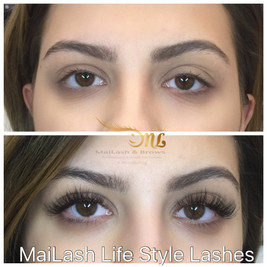 Wispy volume lashes. Using MaiLash technique and our MaiLash Luxury volume lashes in a random order of long and short mix.