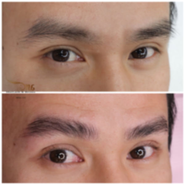 brow lamination for men