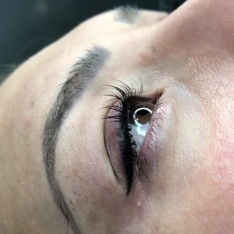 Lash Enhancement and dusty Eyeliner done