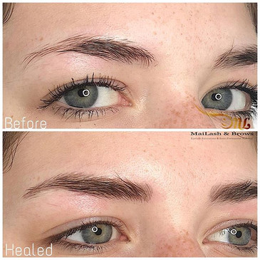Healed Microblading. Microblading is sui