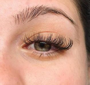 messy style hybrid D curl long lengths Doll eye