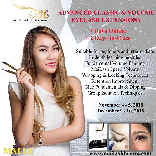 2018 Class Dates on Advanced Classic & Volume Class