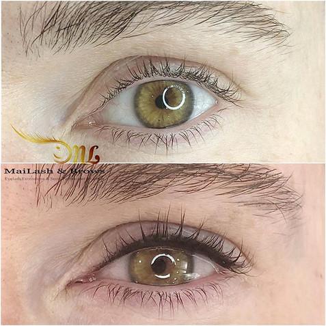 Lash enhancement and a thin eyeliner.jpg
