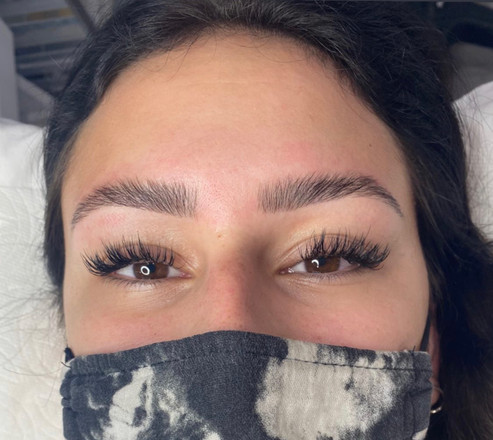 wispy lashes and brow lamination