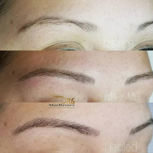 It's normal that the front brow strokes get shorter