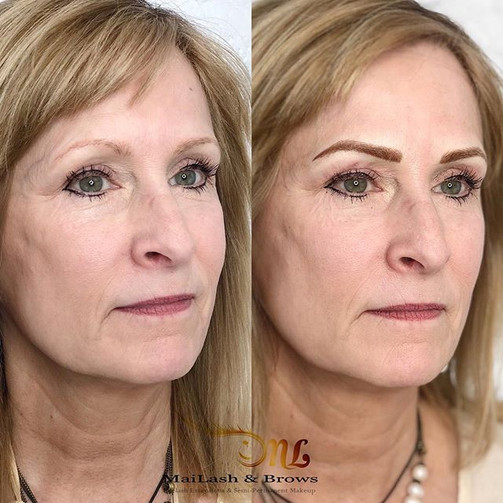 Microblading combined Ombre Shading cove