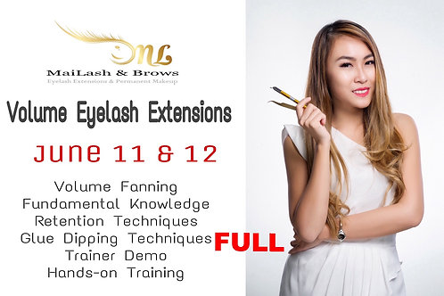 2016 Class Dates on Volume Eyelash Extensions