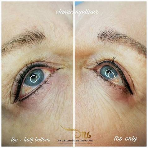 Combination Lash Enhancement + Classic Eyeliner (top & bottom)