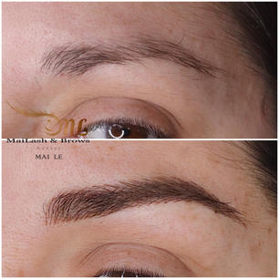 Before vs. Fresh Combo Brows