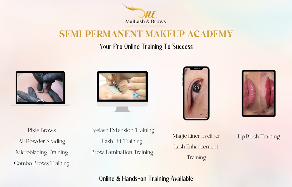 lash training, lip blush training, microblading training