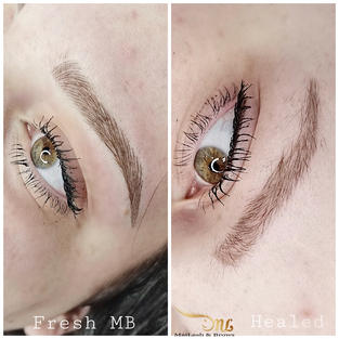 Microblading tends to fade in the middle of the brow