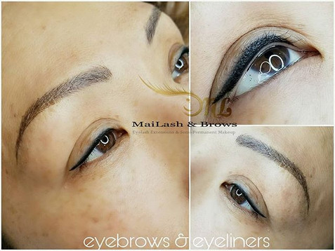 Classic liner and Eyebrow Microblading.jpg Thickness of eyeliner should fit the eyes and enhance them.jpg