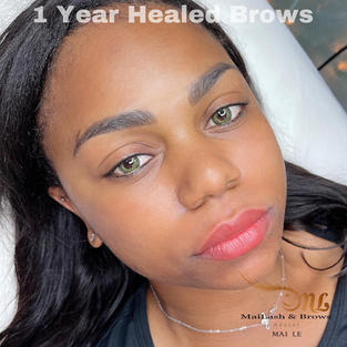 Powder brows Healed 1 year later