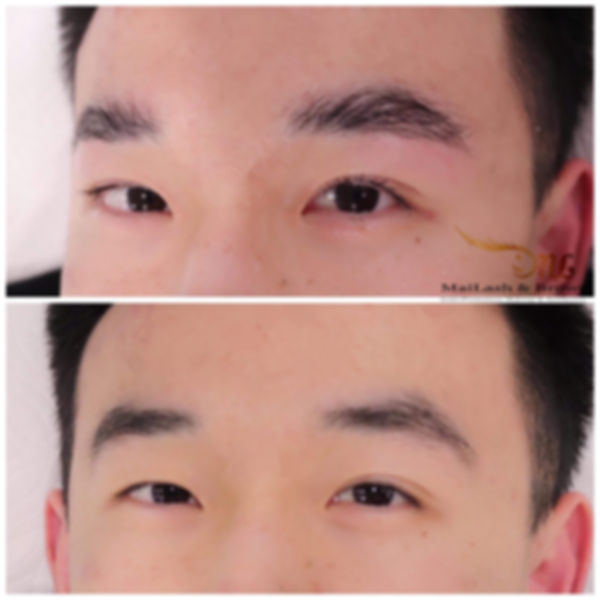 male brow lamination