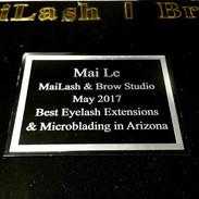 MaiLash & Brow Studio voted Best Eyelash Extension & Microblading in Arizona 2017