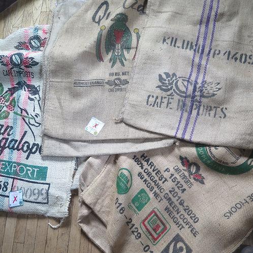 Recycled Burlap Coffee Sacks
