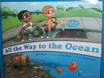 plastic pollution childrens story book cover, sick fish eating plastic that washed down the sewer