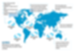 map of plastic in oceans, plastic islnds, 5 gyres