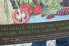 community gardens sign, sustainable community