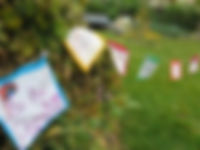 Be the Change banner, gardens