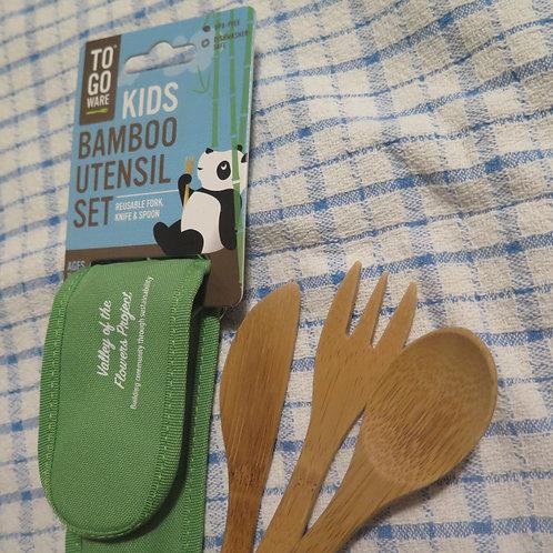 Kids TO-GO Ware Bamboo Utensil Set