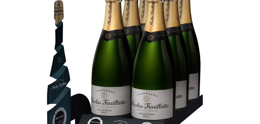 Nicolas Feuillatte - le Champagne préféré des Français - dispositif merchandising.